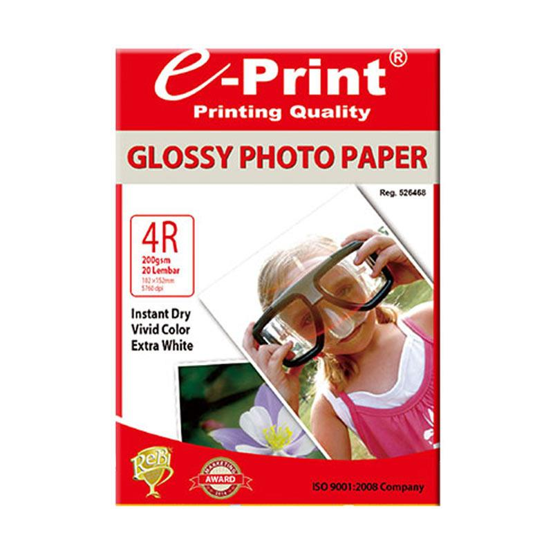 E-Print Glossy Photo Paper 4R or A6 [200 gsm/20 Sheet]