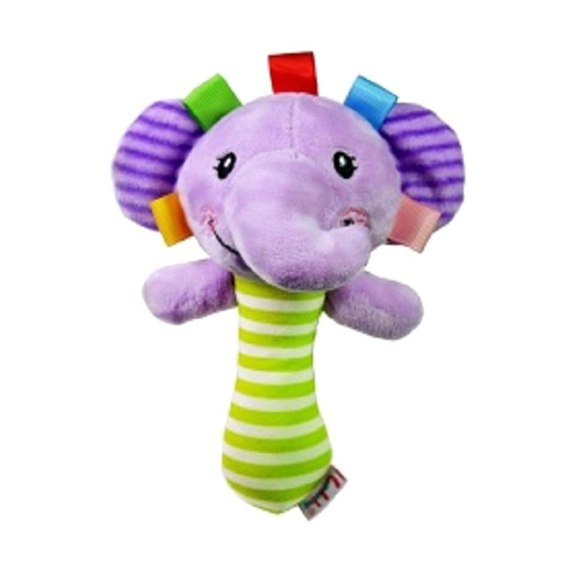 Chloebaby Shop s279 Elephant Rattle Stick Mainan Edukasi Bayi