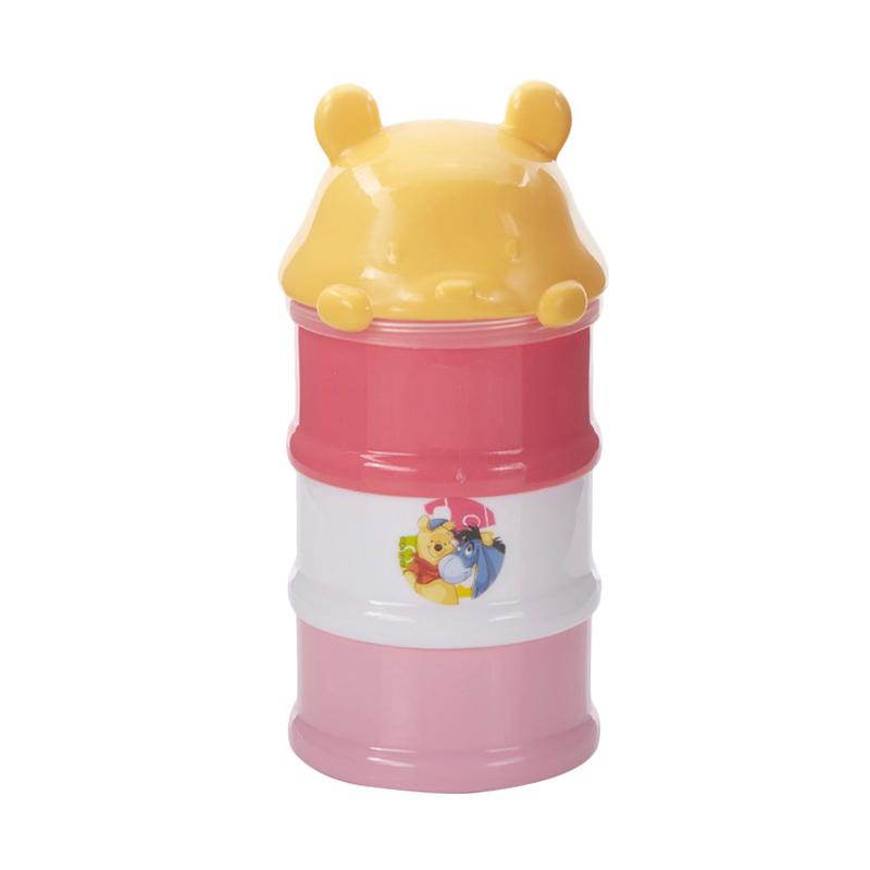 Kiddy Baby Milk Powder Container 3 Stage Pooh - Pink