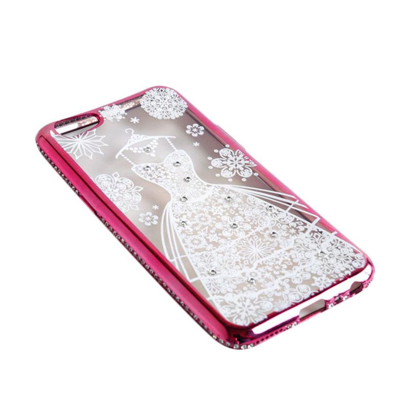 OEM Luxury Diamond Wedding Dress Casing for Vivo Y53 2017 - Rose Gold