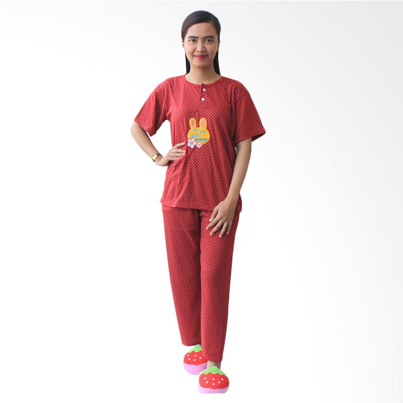 Aily 702 Setelan Baju Tidur Wanita - Maroon