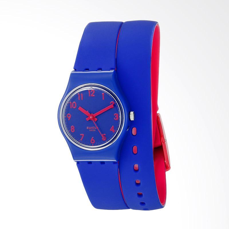 Swatch LS115 Biko Bloo Analog Display Quartz Jam Tangan Wanita - Blue
