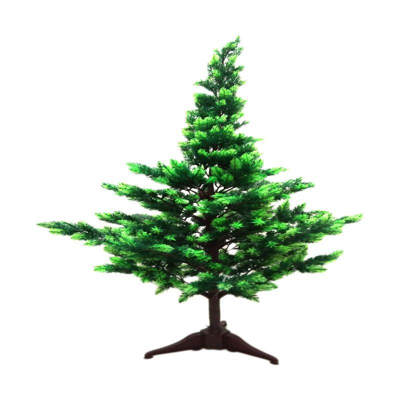 GT Flower Plastic Classic Christmas Tree Aksen Dekorasi [7 Feet]