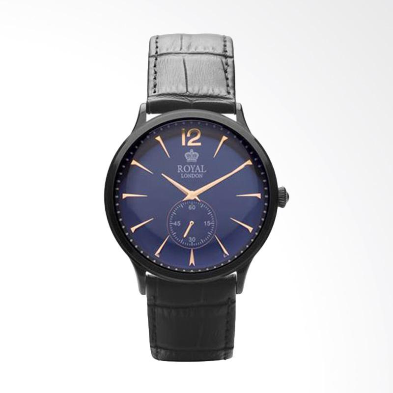 Royal London Gents Classic Watch RL 41295-05 Blue Black Leather