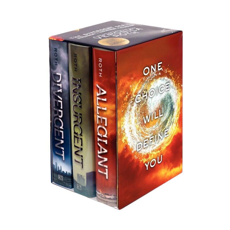 Veronica Roth Divergent/Insurgent/Allegiant Hardcover Box Set Buku Novel