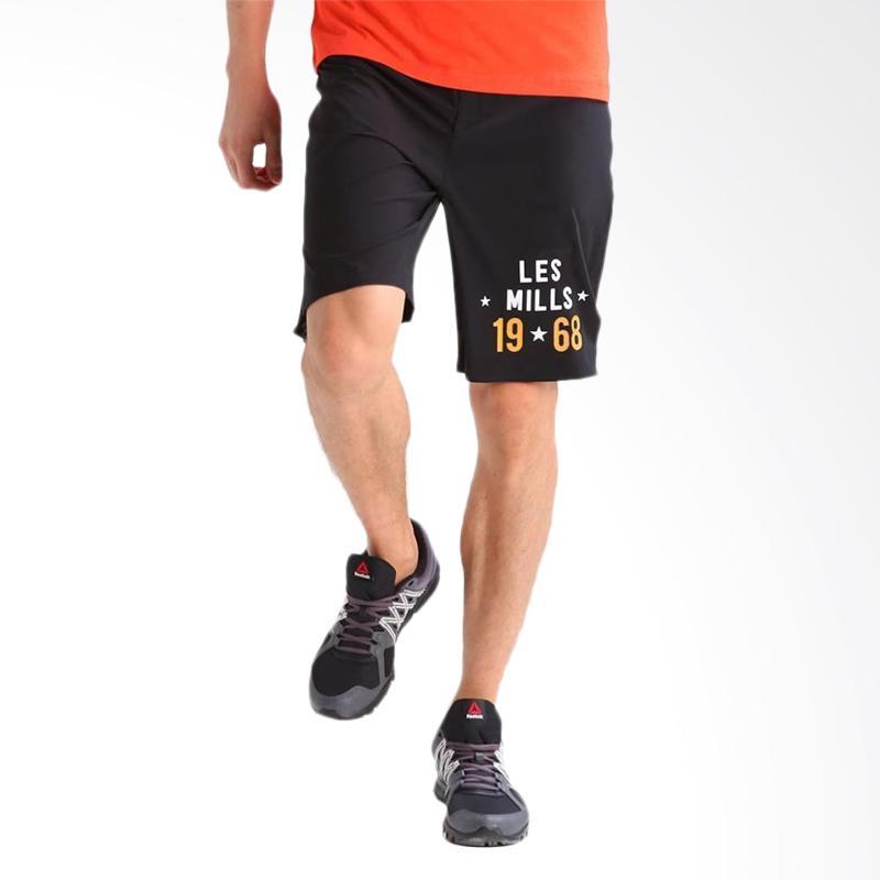 Reebok Les Mills Men Shorts Celana Olahraga Pria - Hitam
