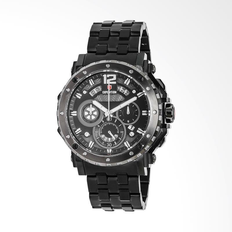Expedition Black Dial Black Stainless Steel Jam Tangan Pria - Black EXF-6402-MCBEPBA