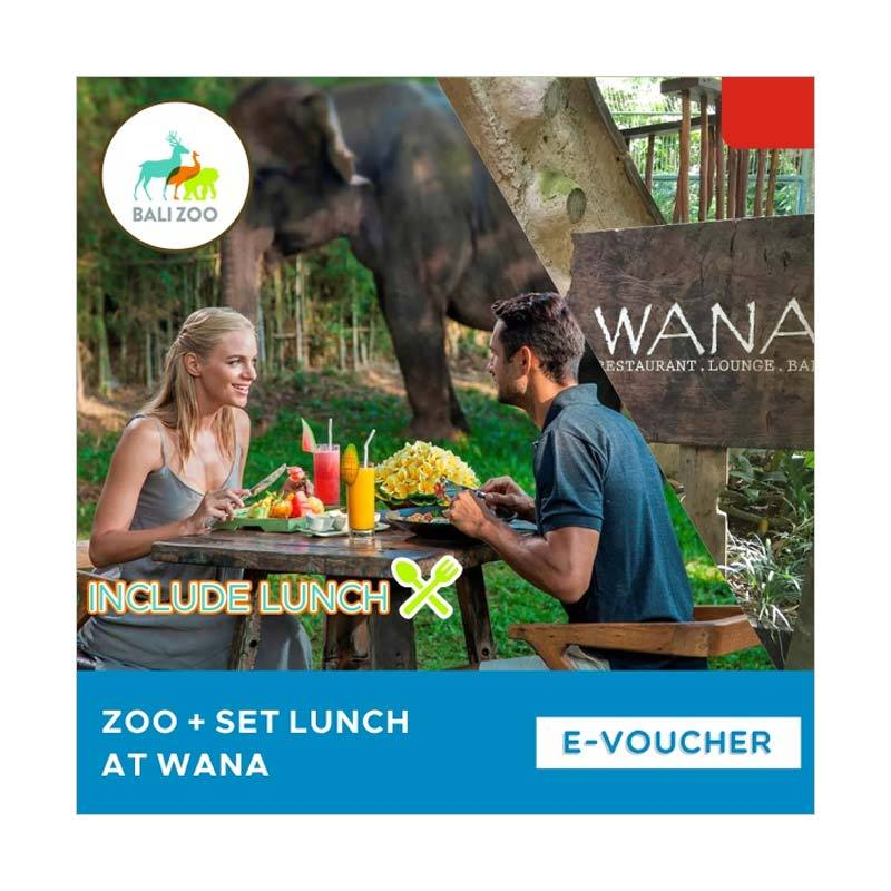 Bali Zoo Park Zoo With Set Lunch at Wana E-Voucher [Child]