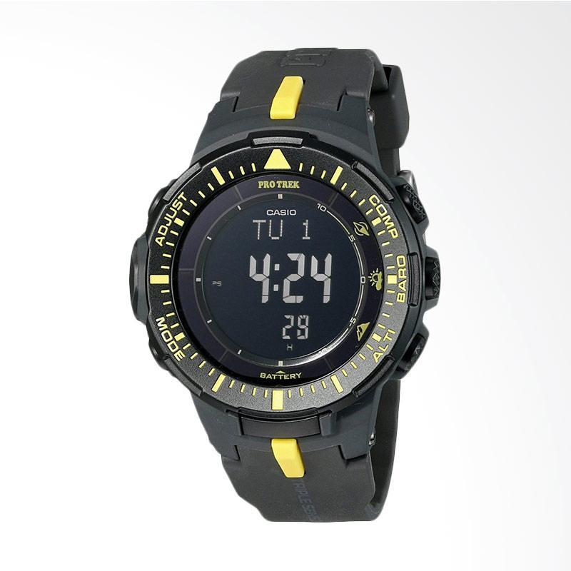 Casio Men's Pro Trek Triple Sensor Tough Solar Digital Display Quartz Black Watch PRG-300-1A9CR