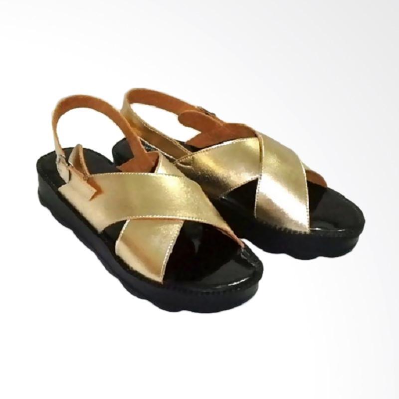 Anneliese Bella Sandal Wedges Wanita - Gold