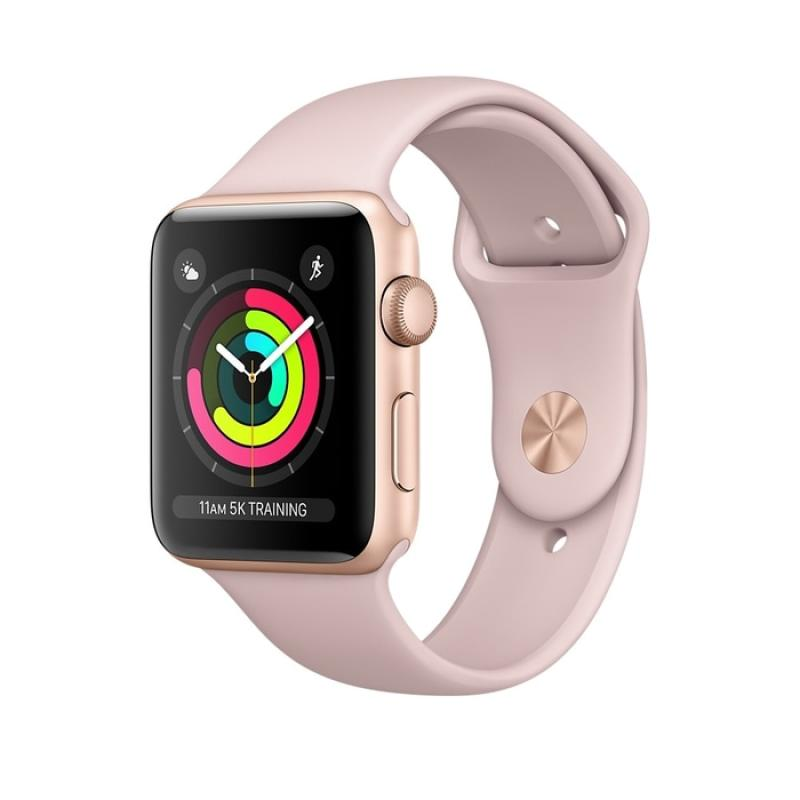 harga SALE Apple Watch Series 3 GPS 42mm Aluminium with Pink Sand Sport Band - Gold Blibli.com