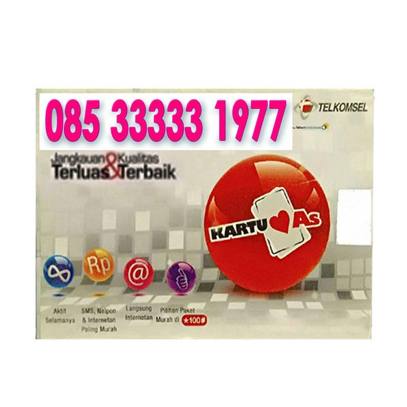 Harga Jual Telkomsel As Nomor Cantik 08533333 1977 Kartu Perdana Terbaru .