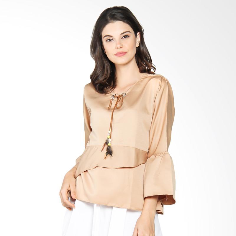 Jening Batik WMS JBW019 Blouse Atasan Wanita - Cream
