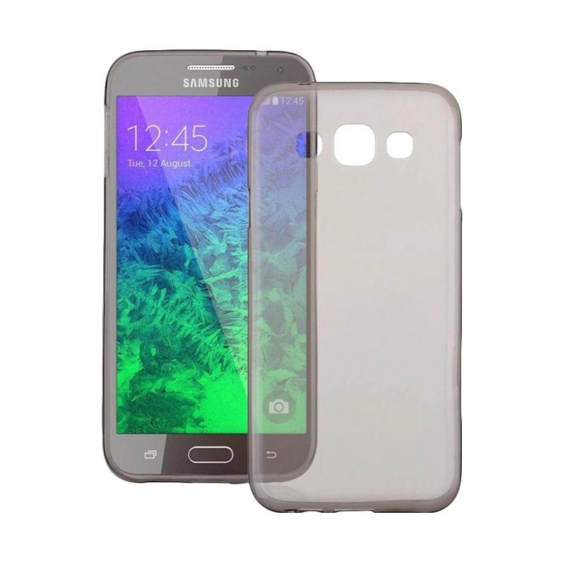 Ume Ultrathin Silicone Jelly Softcase Casing for Samsung Galaxy A8 A800F - Hitam