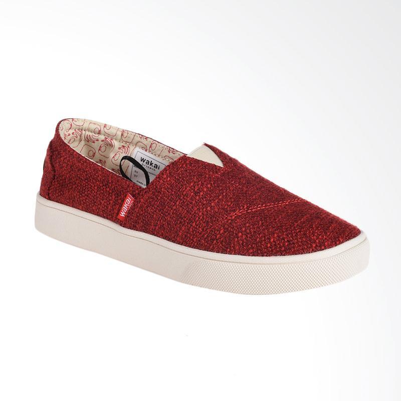 harga Wakai WAK-SLW01702 Hashigoknit Sepatu Wanita - Red Blibli.com