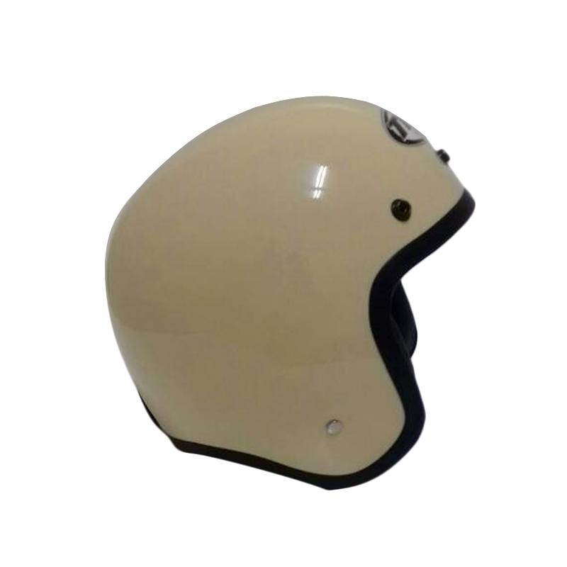 THI Helmets Classic Polos Helm Half Face - Coklat Susu