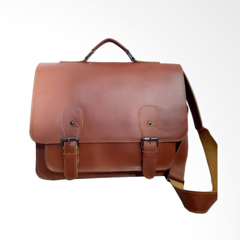 Hunter Design Kulit Tas Laptop Pria - Brown