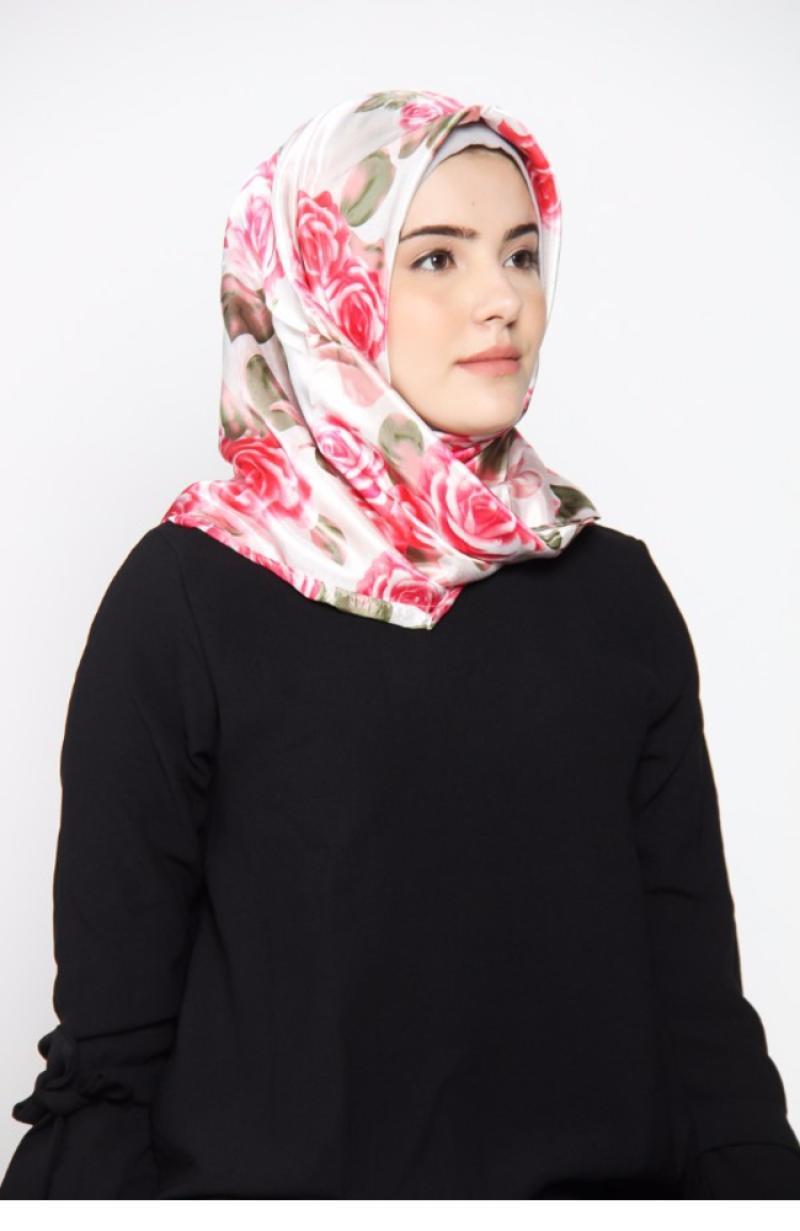 Rauza Rauza Wardah Midi Hijab Square - Vintage Rose