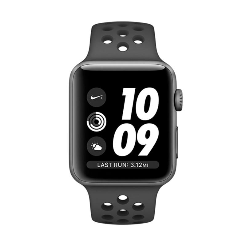 Apple Watch Series 3 GPS Nike+ Anthracite Sport Band Smartwatch - Grey Black [42mm] MQL42 - 25961853,337_25961853,5438000,blibli.com,Apple-Watch-Series-3-GPS-Nike-Anthracite-Sport-Band-Smartwatch-Grey-Black-42mm-MQL42-337_25961853,Apple Watch Series 3 GPS Nike+ Anthracite Sport Band Smartwatch - Grey Black [42mm] MQL42