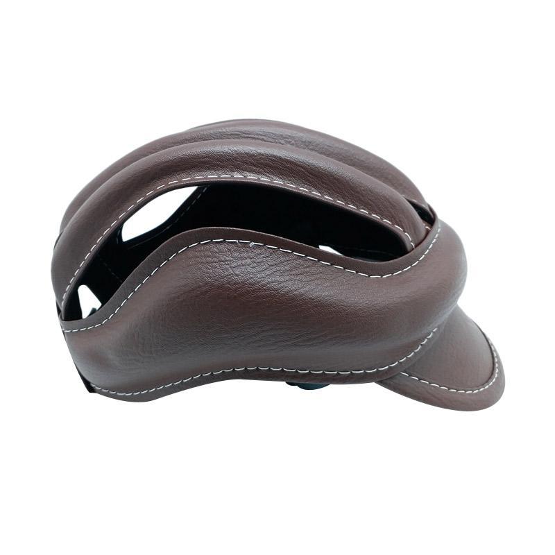 TOPI Helm Colour Bike Caps - Coklat