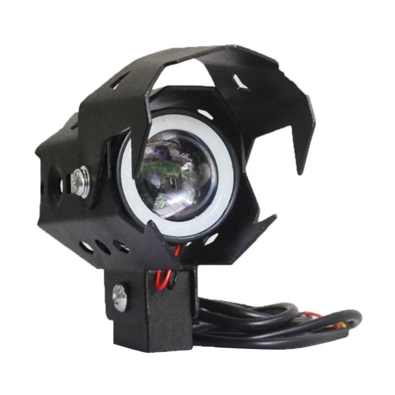 Raja Motor Transformer U9 Universal Kecil Lampu LED Projector - Hitam [LAV9004-Hitam2]