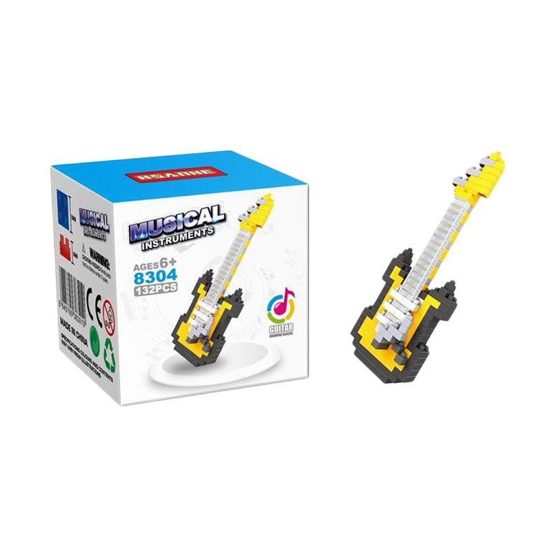 HSANHE 8304 Guitar Mainan Blok dan Puzzle