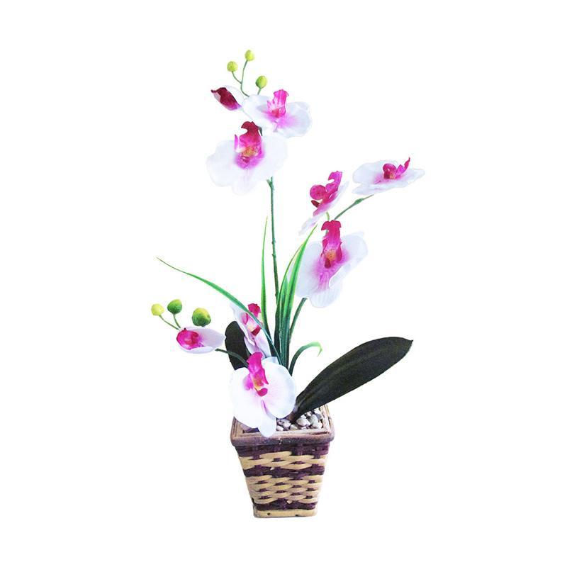 Royal Anggrek Bulan Bunga Artificial - Putih