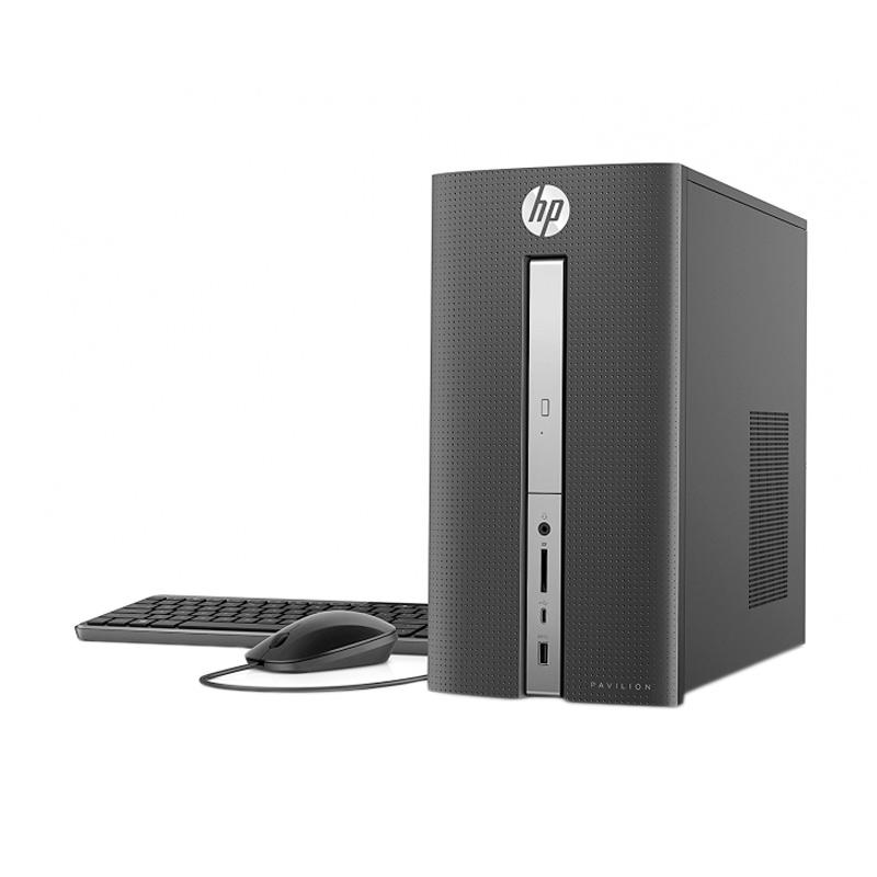 WEB_HP Pavilion 570-P034D Desktop PC - Black [i3-7100/4 GB/1 TB/DVD-RW/18.5