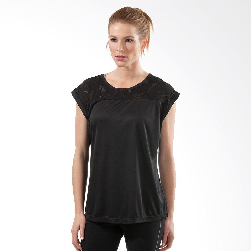 The Moret Group XPBX Pro Mesh Shldr R-Tee Kaos Olahraga Wanita - Black XPR0017