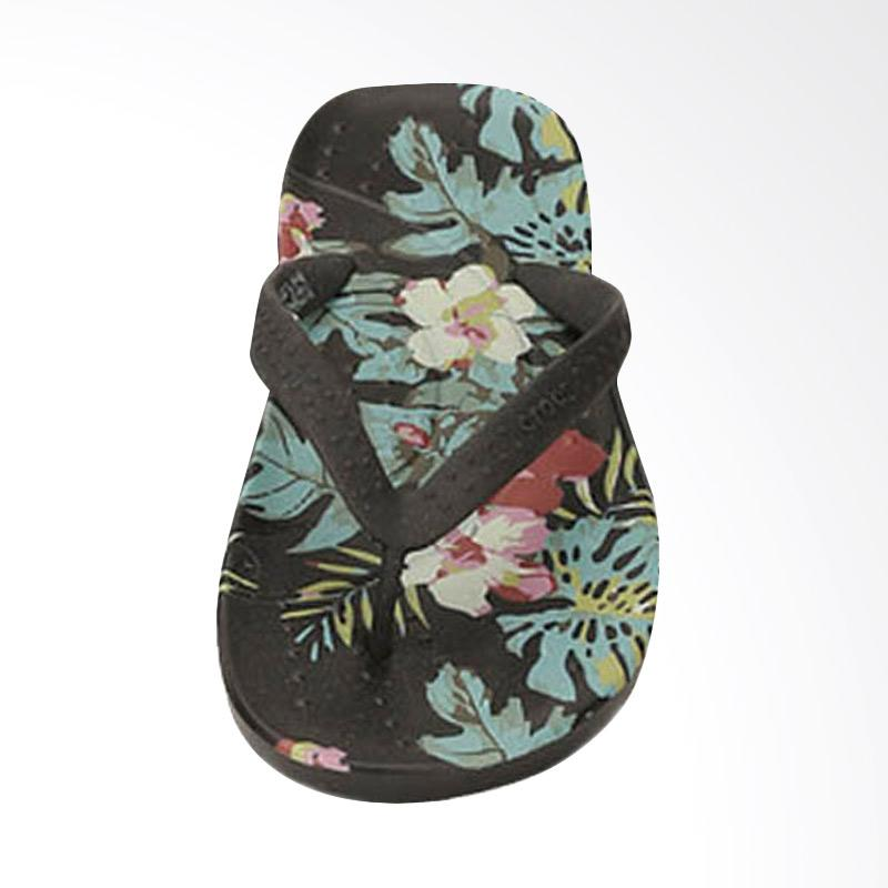 Crocs Chawaii Island Flip Sandal Jepit Pria - Black [CR20192BK]
