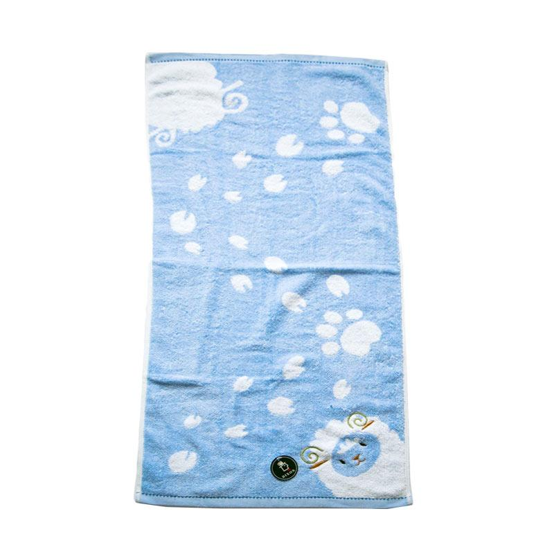 Dixon Embroidery Sheep 7069 Handuk Mandi - Blue [60 x 120 cm]