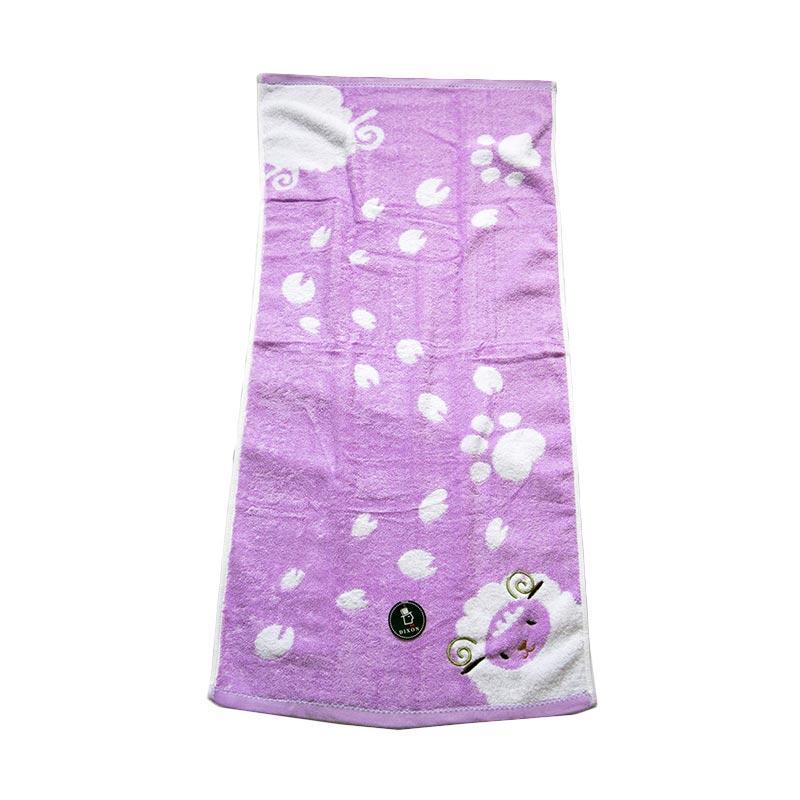 Dixon Embroidery Sheep 7069 Handuk Mandi - Purple [60 x 120 cm]