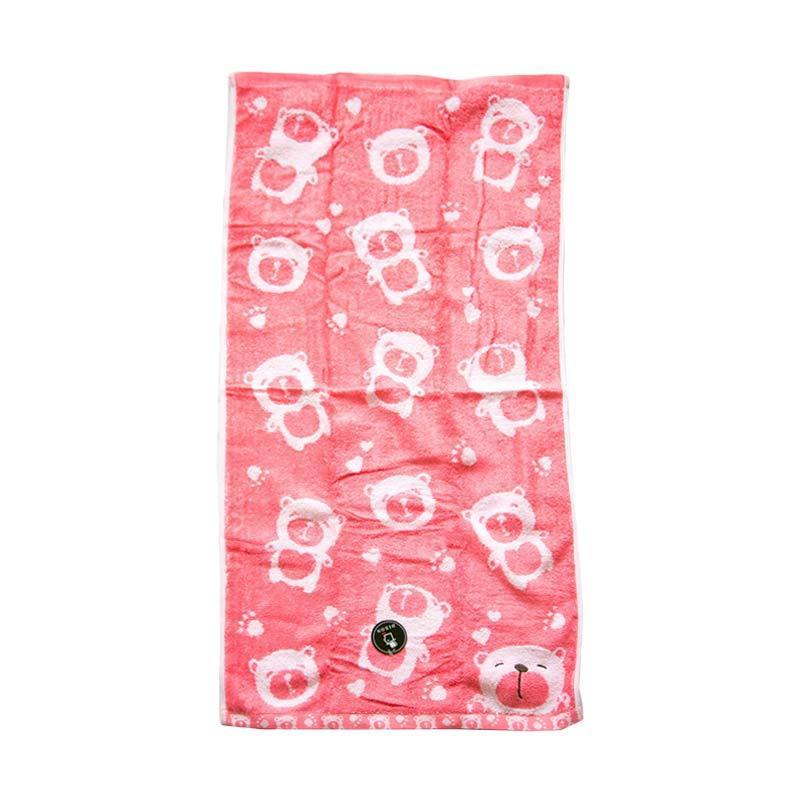 Dixon Smile Bear 7083 Handuk Mandi - Pink [60 x 120 cm]