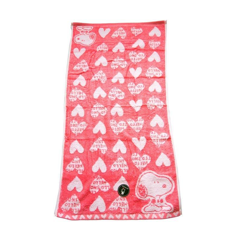 Dixon Snoopy Heart 7084 Handuk Mandi - Pink [60 x 120 cm]