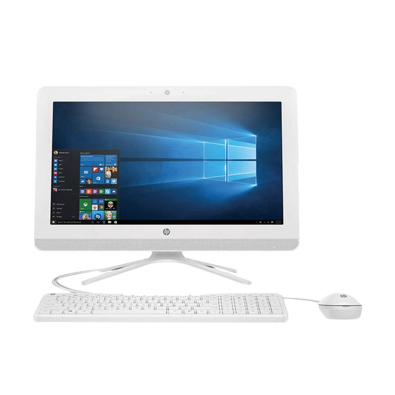HP PC All in One 20-c005D Desktop PC  - Putih [AMD E2-7110/ 4GB/ 500GB/19.45 Inch/ Windows 10]