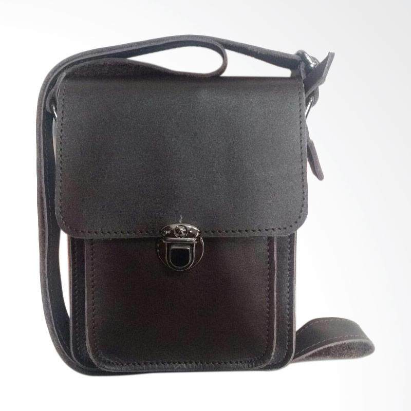 Hunter Design Kulit Tas Selempang Pria - Dark Brown [0028]