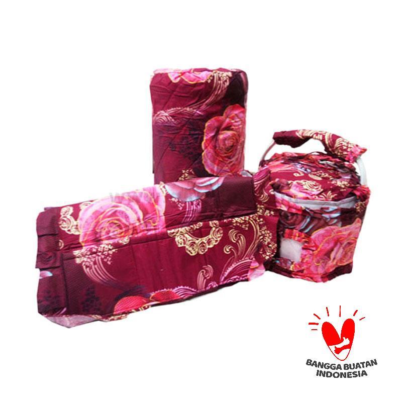 Mugunghwa Red Flower Batik GKM Set Kitchen Linen