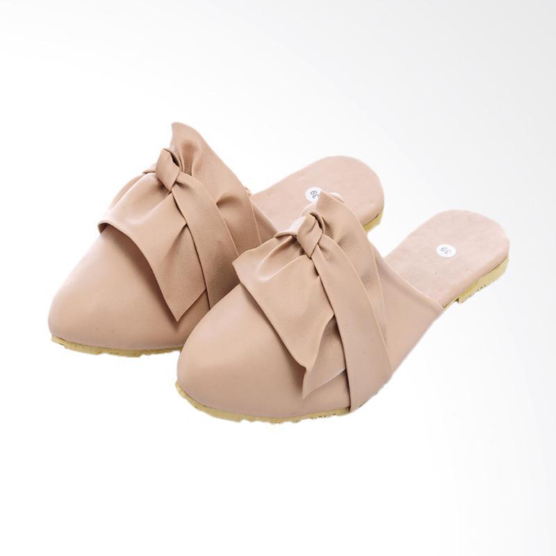 harga Sierra Ribbon Mules Sandal Flats - Cream Blibli.com