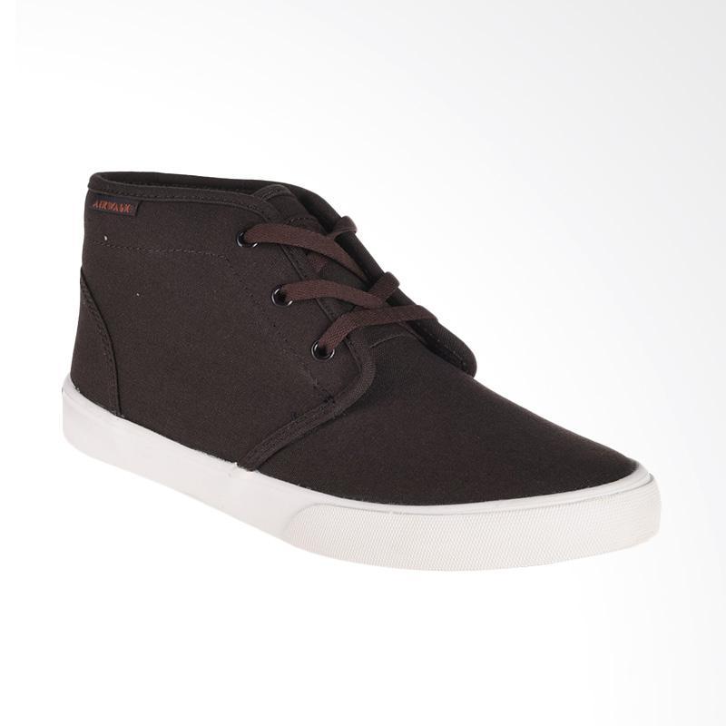Airwalk Jivan Sepatu Pria - Dark Brown [AIW17CV0255S]