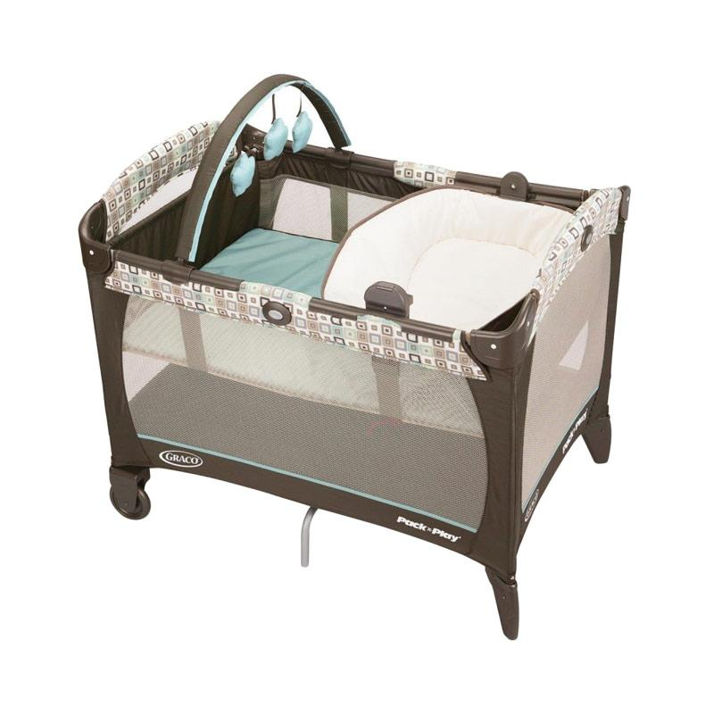 Graco Pack n Play with Reversible Napper & Changer Tempat Tidur Bayi - Soho Square
