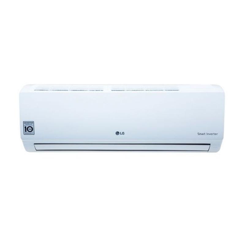 harga LG T-06EMV Inverter AC Split - Putih [1/2 PK/ Dual Cool] Blibli.com