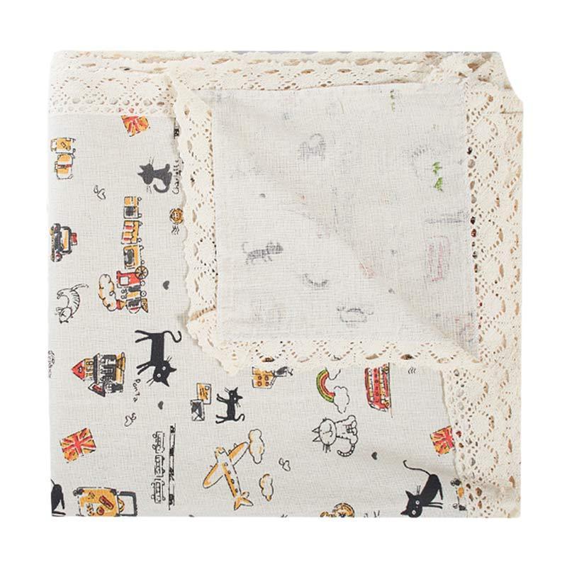 Tren-D-home Table Cloth Taplak Meja - Cat [150 cm x 230 cm]