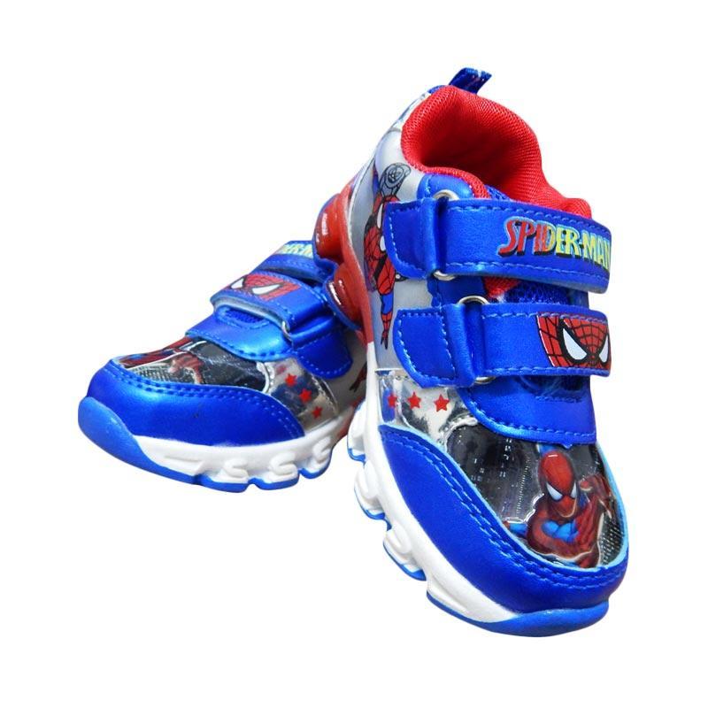 Wonderland Sepatu Lampu Spiderman Sepatu Anak