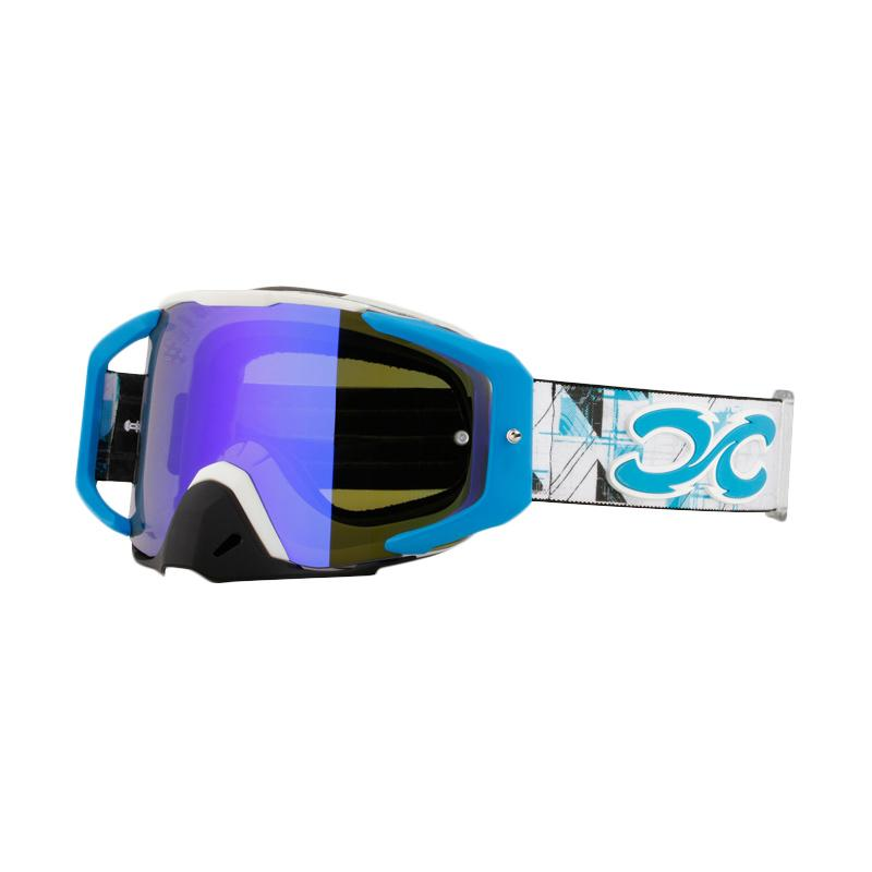 Xforce® Assassin Moto Cross Goggle - Matte White Blue