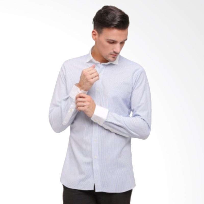 GT Man Long Sleeve Shirt Kemeja Pria - Biru [KGT015SX]