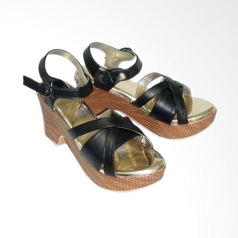 Anneliese DDN 01 Sandal Wedges Wanita - Hitam