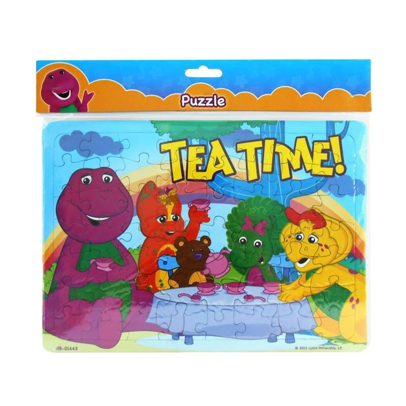 Happy Toon 11 Tea Time Barney Mainan Puzzle [Large]