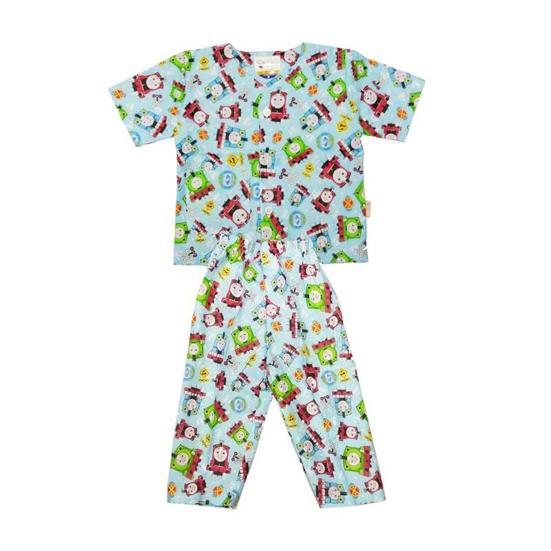 Jual Baby Zakumi Piyama Pendek Thomas Baju Tidur Anak - Biru Online - Harga & Kualitas Terjamin | Blibli.com