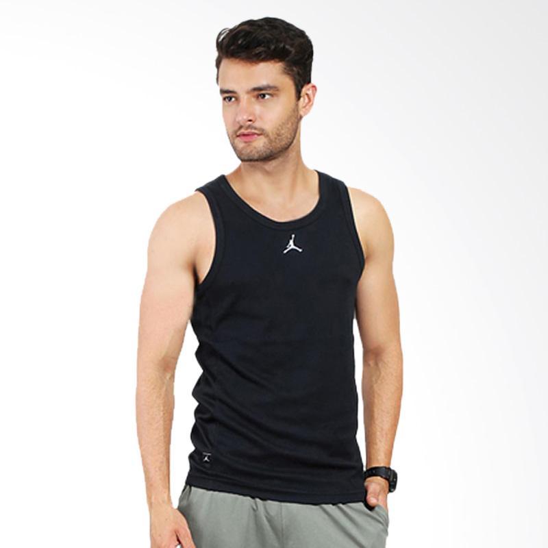 NIKE Buzzer Beater Tanktop Pakaian Olahraga Pria - Black [589114 010]