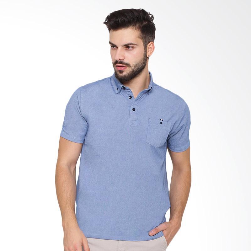 harga Arnett Polo Shirt Fashion Pria - Blue Blibli.com